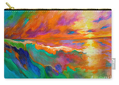Psychedelic Sea Carry-all Pouch by Alison Caltrider