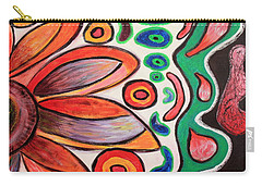 Carry-all Pouch featuring the painting Psychedelic Summer by Jolanta Anna Karolska