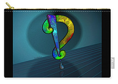 Psychedelic Interrobang Carry-all Pouch
