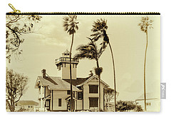 Pt. Fermin Lighthouse Carry-all Pouch by Joseph Hollingsworth