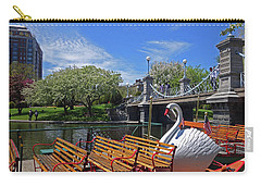 Public Garden Swan Boat In The Spring Boston Ma Carry-all Pouch