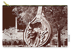 A Face Of Public Art Carry-all Pouch by Lorraine Devon Wilke