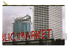 Carry-all Pouch featuring the digital art Public Market by David Blank