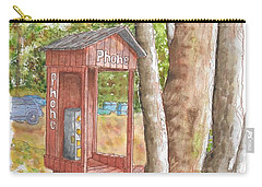 Public Phone In Mammoth Lakes, California Carry-all Pouch by Carlos G Groppa
