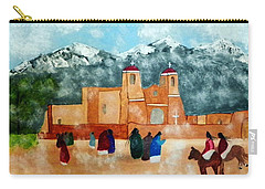 Pueblo Church Carry-all Pouch by Joseph Frank Baraba