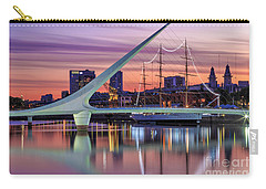 Puerto Madero At Twilight Carry-all Pouch by Bernardo Galmarini