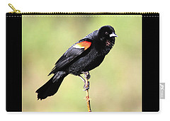 Carry-all Pouch featuring the photograph Puffed Throat by Shane Bechler