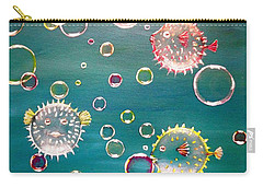 Puffer Fish Bubbles Carry-all Pouch