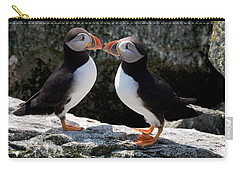 Puffin Love Carry-all Pouch by Brent L Ander
