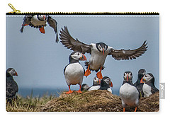 Puffins Carry-all Pouch by Brian Tarr