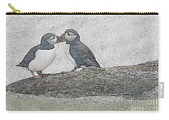 Puffins Kissing Carry-all Pouch