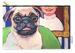 Pug - Beth Ann And Butch Carry-all Pouch by Rebecca Korpita