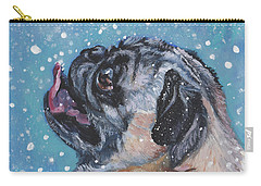 Pug In The Snow Carry-all Pouch