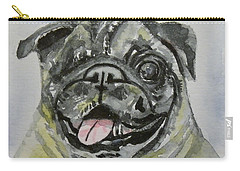 One Eyed Pug Portrait Carry-all Pouch