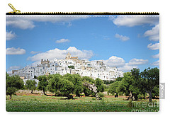 Puglia White City Ostuni With Olive Trees Carry-all Pouch