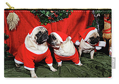 Pugs Dressed As Father-christmas Carry-all Pouch