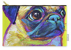 Pugsly, A Closer Look Carry-all Pouch by Robert Phelps
