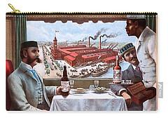 Pullman Compartment Cars Through Trains, Cincinnati, Hamilton Dayton Rail Road Advertising Poster, 1894 Carry-all Pouch