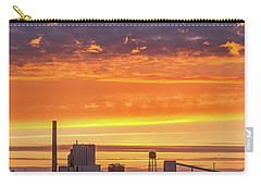 Carry-all Pouch featuring the photograph Pulp Mill Sunset by Greg Nyquist