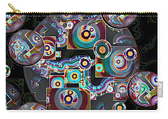 Carry-all Pouch featuring the digital art Pulse Of The Motherboard by Lynda Lehmann