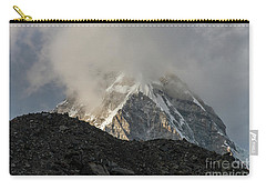 Carry-all Pouch featuring the photograph Pumori Dusk Light by Mike Reid