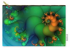 Pumpkin Garden Carry-all Pouch by Jutta Maria Pusl