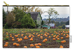 Pumpkin Patch By Farm House In Oregon Carry-all Pouch