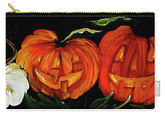Pumpkin Patch Friends Painting By Lisa Kaiser Carry-all Pouch