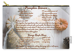 Pumpkin Scones Recipe Carry-all Pouch