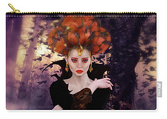 Carry-all Pouch featuring the digital art Pumpkin Witch by Shanina Conway