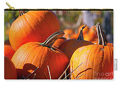 Carry-all Pouch featuring the photograph Pumpkins 2 by Sharon Talson