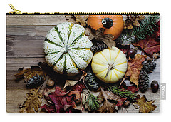 Pumpkins And Leaves Carry-all Pouch