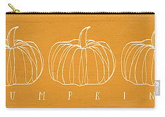 Pumpkins- Art By Linda Woods Carry-all Pouch by Linda Woods
