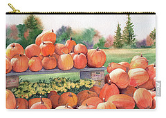 Pumpkins For Sale Carry-all Pouch by Vikki Bouffard