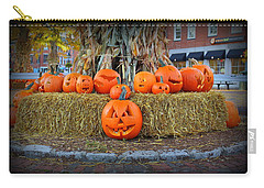 Pumpkins In Market Square Carry-all Pouch