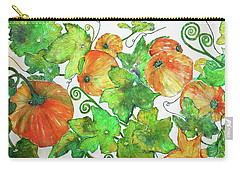 Pumpkins Carry-all Pouch by Janet Immordino