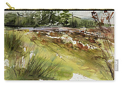 Pumpkins On Rt. 13 Carry-all Pouch by Judith Levins