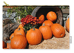 Carry-all Pouch featuring the mixed media Pumpkins- Photograph By Linda Woods by Linda Woods