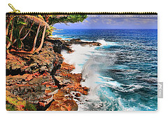 Carry-all Pouch featuring the photograph Puna Coast Hawaii by DJ Florek
