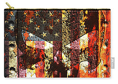 Punisher Skull On Rusted American Flag Carry-all Pouch