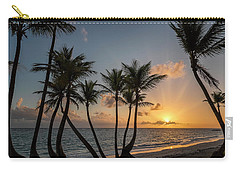 Carry-all Pouch featuring the photograph Punta Cana Sunrise by Adam Romanowicz