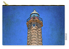 Carry-all Pouch featuring the photograph Punto Doncela Lighthouse by Mary Machare