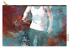 Carry-all Pouch featuring the painting Puppet Man 003 by Gull G