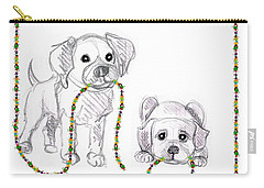 Puppies Greeting Card Carry-all Pouch