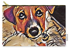 Puppy Eyes Carry-all Pouch by Holly Martinson