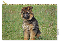 Carry-all Pouch featuring the photograph Puppy Halo by Sandy Keeton