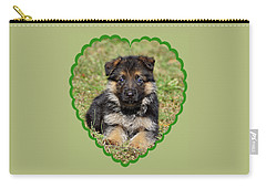 Carry-all Pouch featuring the photograph Puppy In Heart by Sandy Keeton
