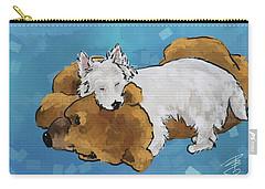 Puppy Love Carry-all Pouch by Debra Baldwin