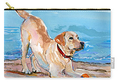 Puppy Pose Carry-all Pouch by Molly Poole