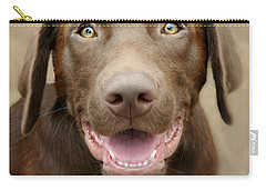 Puppy Power Carry-all Pouch by Kathy M Krause